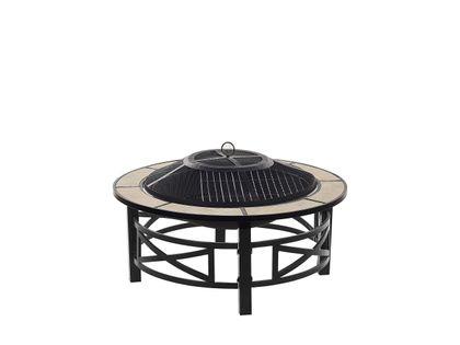 Grill palenisko ogrodowe czarne stalowe