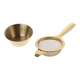 Zaparzacz do herbaty - Stalowe sitko Złoty