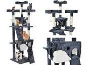 Drapak Dla Kota Wieża Legowisko Wielki 7 poziomów Szaro Biały 2781