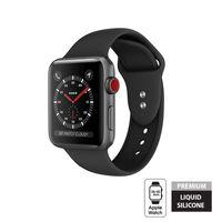 Crong Liquid Band - Pasek do Apple Watch 38/40 mm (czarny)