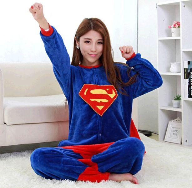PIŻAMA KIGURUMI ONESIE KOMBINEZON SUPERMAN M zdjęcie 2