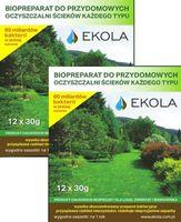 Preparat, bakterie, oczyszczalnia przydomowa, eko szambo 2-opak. EKOLA