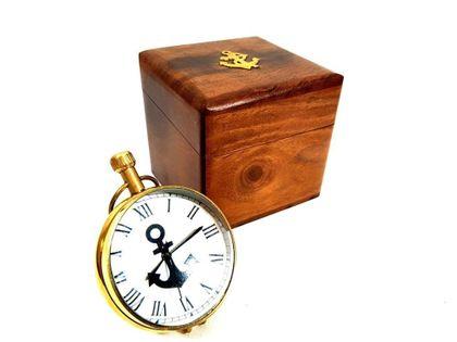 Zegar marynistyczny w pudełku drewnianym NI406A/1