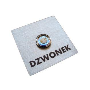 Przycisk dzwonka wyjścia wejścia furtki bramy drzwi INOX LED do słupka