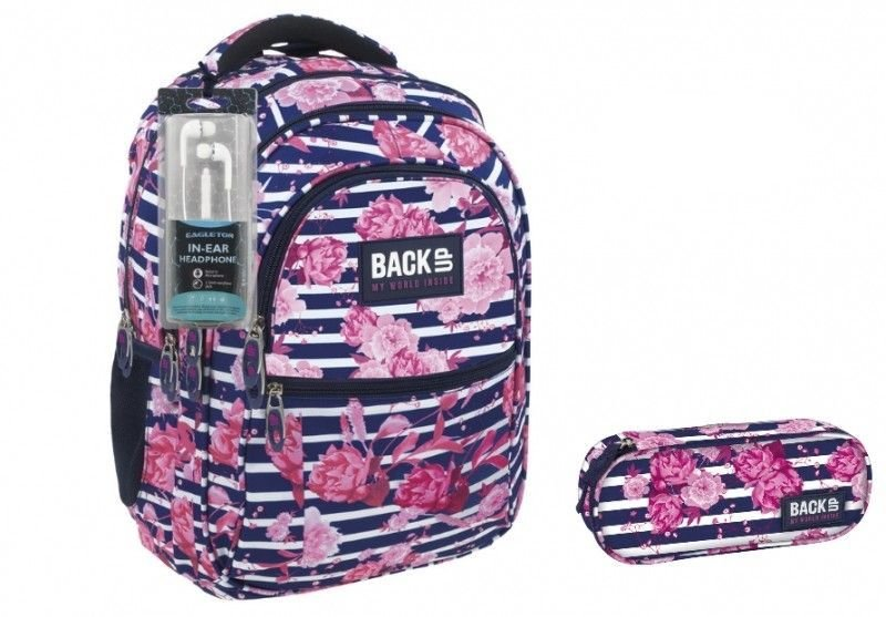Plecak szkolny + piórnik Back Up zdjęcie 1