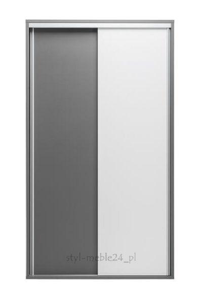 Szafa przesuwna 120cm ZONDA 10 MX - Popiel + Biały połysk zdjęcie 1