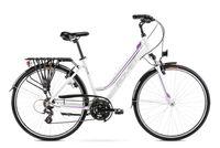 """Rower Romet Gazela M(17"""") biało- fioletowy 12"""