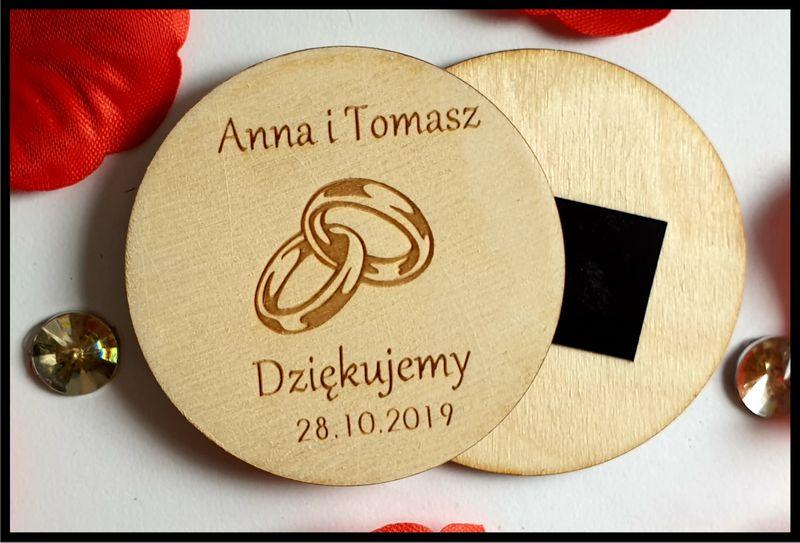 Podziękowanie dla Gości  Komunia Chrzest ślub Magnes na Arena.pl