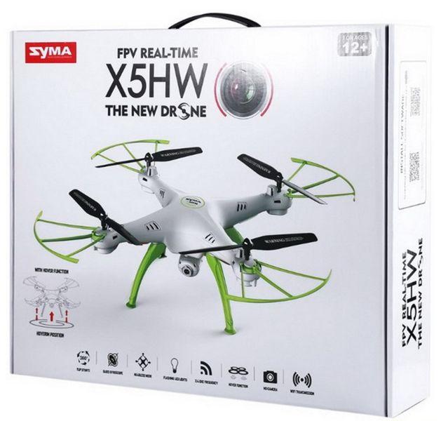 Dron Syma X5HW kamera Wi-Fi funkcja zawisu Niebieski Y142N zdjęcie 10