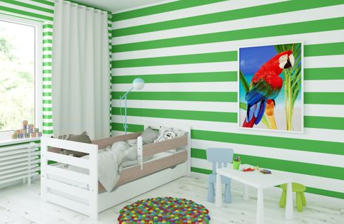 Łóżko HAPPY 160 x 80 szuflada + barierka ochronna + MATERAC GRATIS
