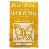 Barwnik do tkanin farba z motylem ŻÓŁTY