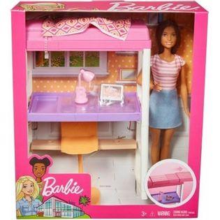 Mattel Lalka Barbie zestaw Sypialnia