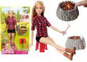 Barbie zestaw lalka na biwaku + akcesoria