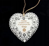 Podziękowanie dla gości Komunia Serce dekoracja