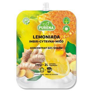 Lemoniada Imbir - Cytryna - Miód, Koncentrat Purena, 340G