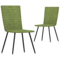 Krzesła stołowe 2 szt. zielone aksamitne VidaXL