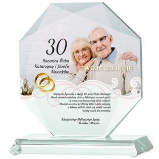 Prezent na Rocznicę Ślubu ze zdjęciem i dowolnymi życzeniami