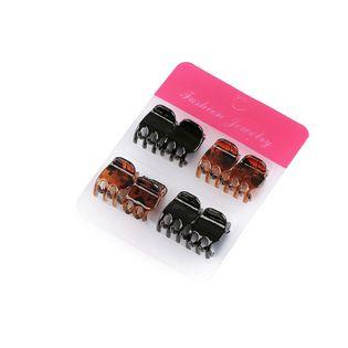 Zestaw mini klamerek do włosów 8 sztuk 1,2 cm
