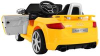 Auto na akumulator AUDI TT Quatro RS koła EVA, 2.4G, Ecoskóra /1198