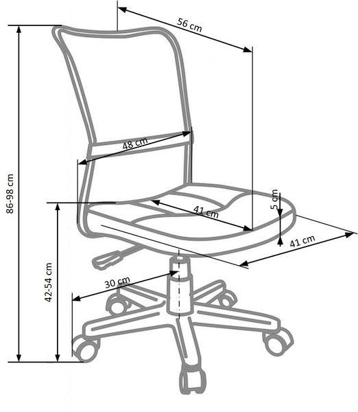 DINGO HALMAR dziecięce krzesło obrotowe DZIECIĘCY fotel do biurka zdjęcie 2