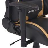 Rozkładane Krzesło Biurowe, Sportowe, Sztuczna Skóra, Złote zdjęcie 4
