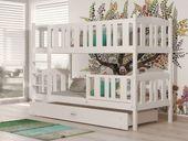 Łóżko piętrowe meble dla dzieci KUBUŚ drewniane