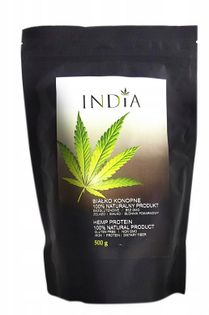 India Naturalne białko konopne roślinne 500g