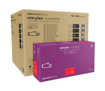 Rękawice nitrylowe nitrylex complete L karton 10 x 100 szt