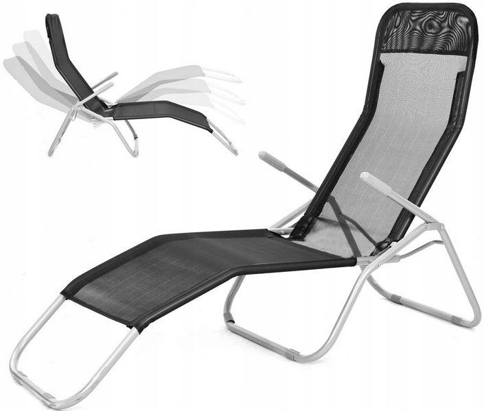 Leżak Plażowy Ogrodowy Grawitacyjny Fotel łóżko