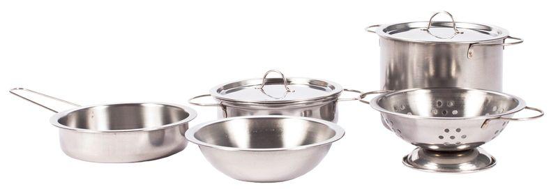 Garnki metalowe dla dzieci akcesoria kuchenne zestaw 14 elementów U30 zdjęcie 7