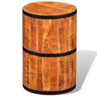 Stołek barowy z szorstkiego drewna mango VidaXL