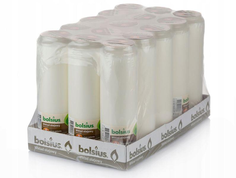 Wkład do zniczy olejowy Bolsius 8 dni (wys.21,5 cm) x 15 sztuk zdjęcie 1