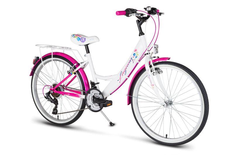 Rower 24 KANDS LAGUNA VS-1 ZWK biało-różowy zdjęcie 2