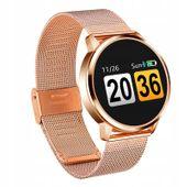 Ciśnieniomierz Smartwatch zegarek złota bransoleta