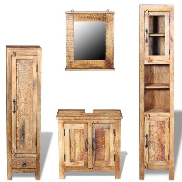 Szafka Szafki Do łazienki Pod Umywalkę Drewniana Drewno Mango W Stylu Vintage Lustro