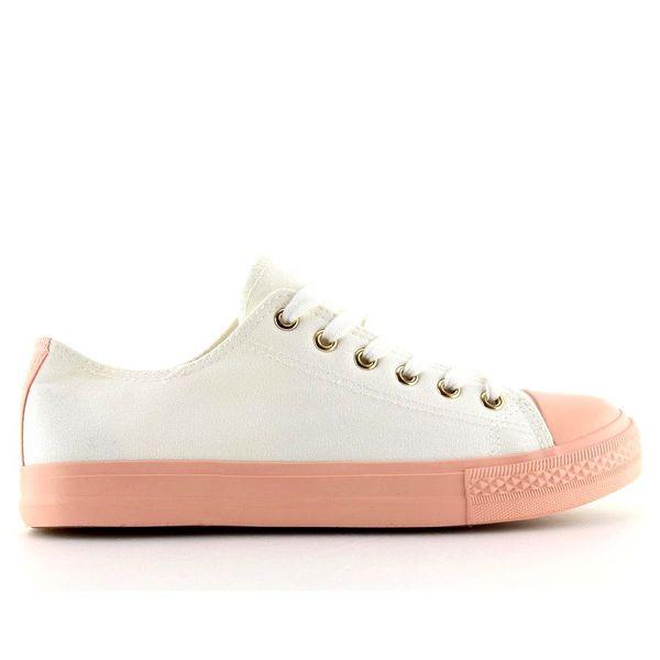 Trampki damskie biało różowe BL97P r.41