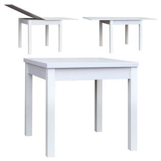 Stół Stolik Rozkładany szer. 80-160cm x 80cm P 840 Biały