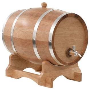 Beczka Na Wino Z Kranikiem, Lite Drewno Dębowe, 12 L