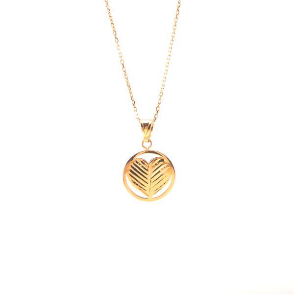 Złoty Naszyjnik Celebrytka Dwustronne Serce Grawer zdjęcie 1