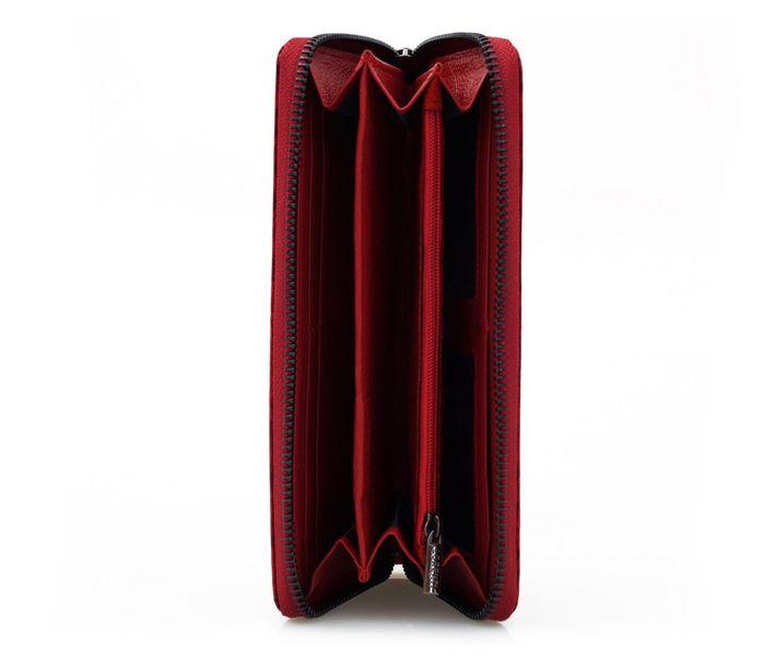 LORENTI portfel skórzany damski motyle suwak P041 czerwony zdjęcie 9