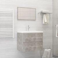 Lumarko 2-częściowy zestaw mebli łazienkowych, szarość betonu, płyta!