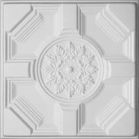 Kasetony sufitowe białe, piankowe 3D D-46