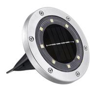 OGRODOWE LAMPKI SOLARNE GRUNTOWE ŚWIECĄCY DYSK x1
