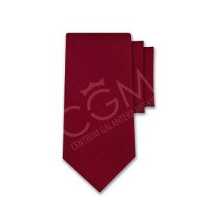 Krawat jednolity czerwony - malinowy