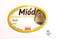 """Etykieta na miód """"Miód rzepakowy - nektarowy"""" 100szt."""