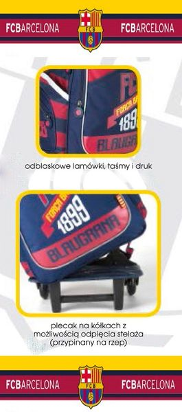 Plecak na kółkach FC Barcelona + piórnik gratis !! zdjęcie 4