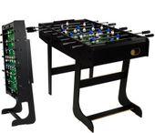 Piłkarzyki stół piłkarski składany 121 x 101 x 79cm BELFASTczarne M01217