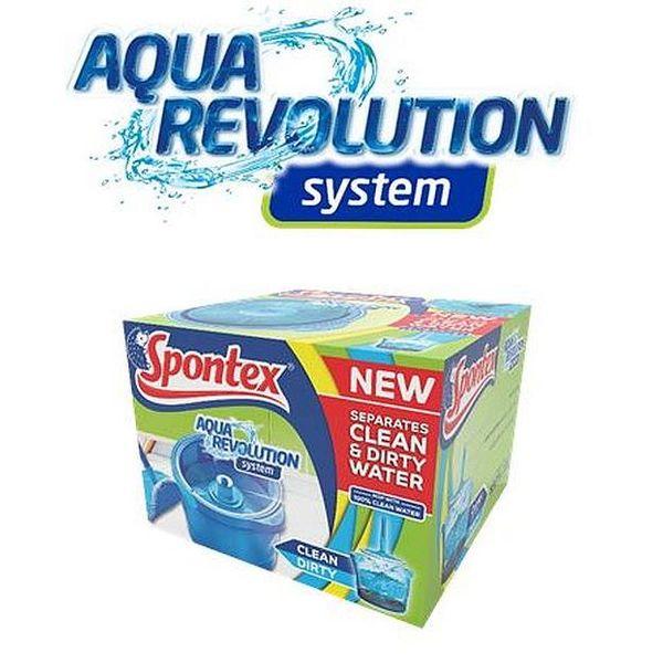 Spontex Zestaw Aqua Revolution Mop + Wiadro 50347 na Arena.pl