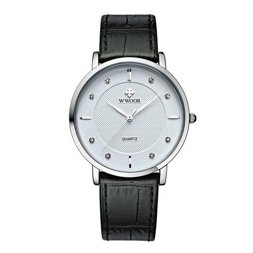 Zegarek męski, Wwoor, biały, czarny, wodoszczelny, elegancki, nowy na Arena.pl