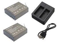 Podwójna Ładowarka + 2 Baterie EKEN H5s plus H6s